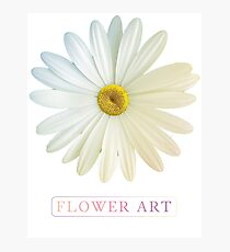 Flower Art Design with Phrase Photographic Print