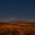 Vollmond über Mauna Kea. von Alex Preiss