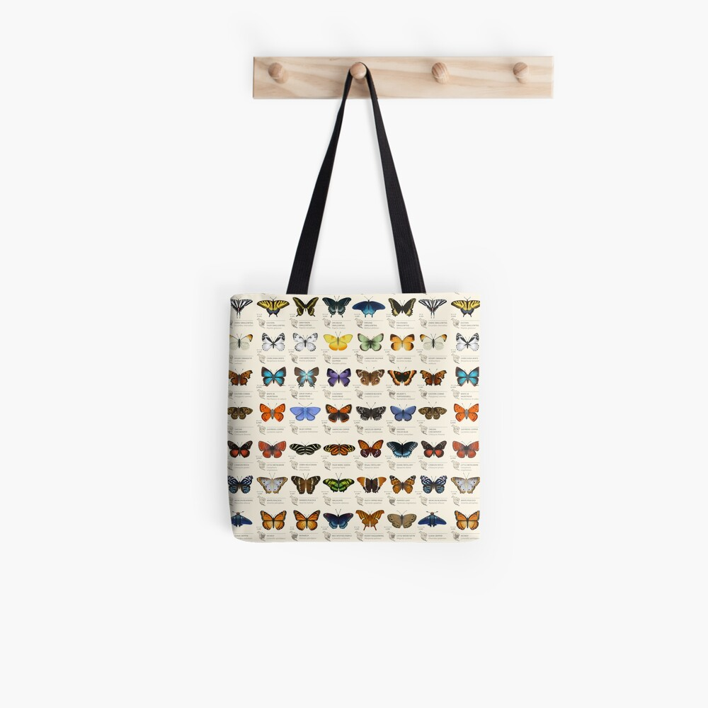 Butterflies of North America Tote Bag