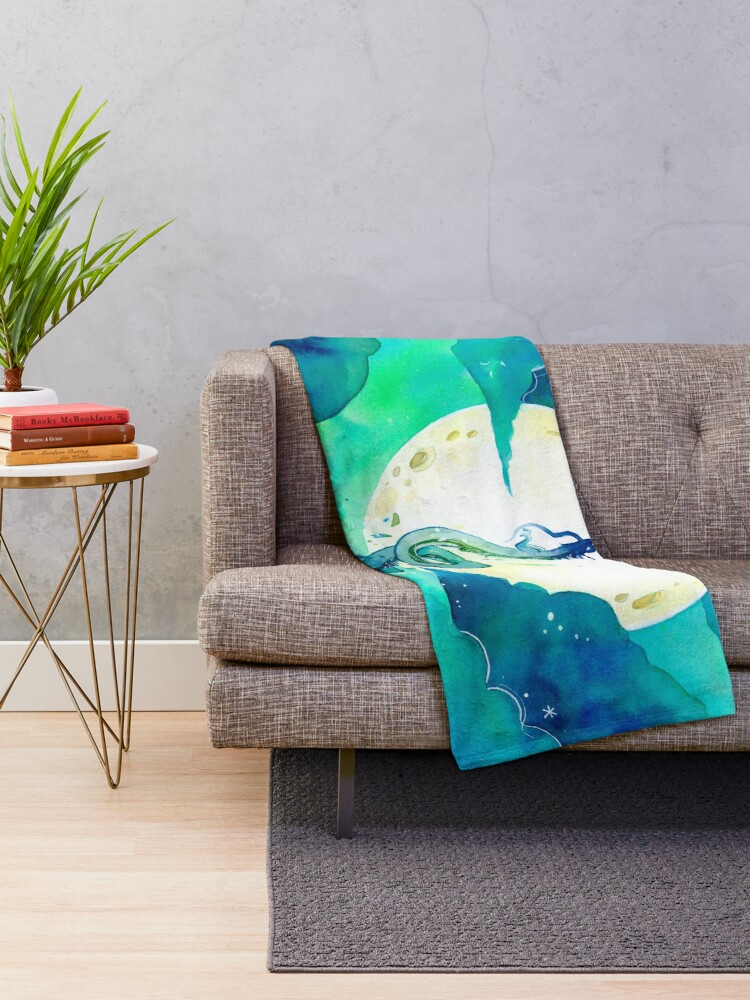 Alternate view of God of Rivers Throw Blanket