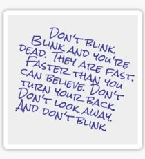Doctor Who Don't Blink Sticker
