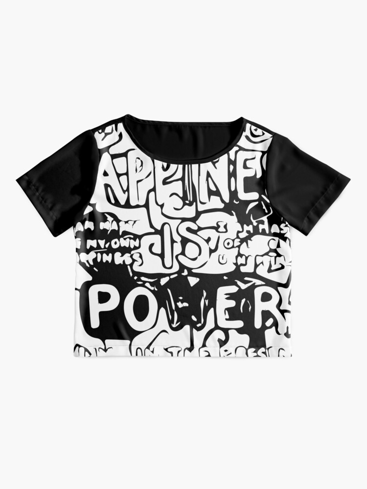 Alternate view of Happiness is Power v2 - Black and Transparent Chiffon Top