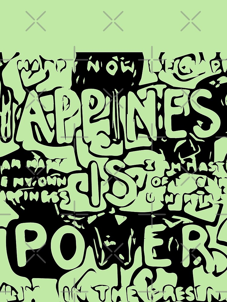 Happiness is Power v2 - Black and Transparent by willpate