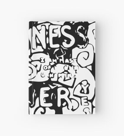 Happiness is Power v2 - Black and Transparent Hardcover Journal
