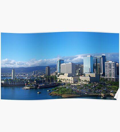 The Island of Oahu, Hawaii  Poster