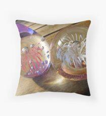 Glass baubles Throw Pillow