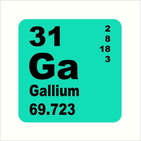 Lminas artsticas tabla peridica de elementos de galio de tabla peridica de elementos de galio de walterericsy urtaz Choice Image