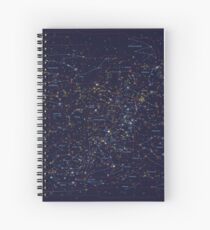 All the stars you can see from Earth Spiral Notebook