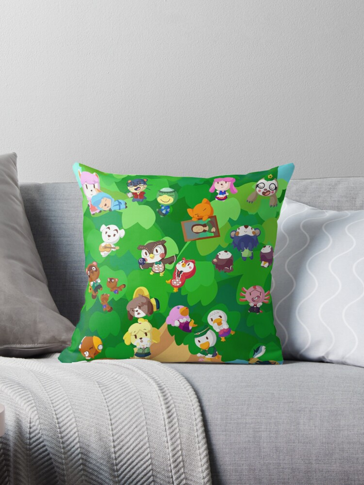 Quot Acnl In The Trees Quot Throw Pillows By Graysea Redbubble