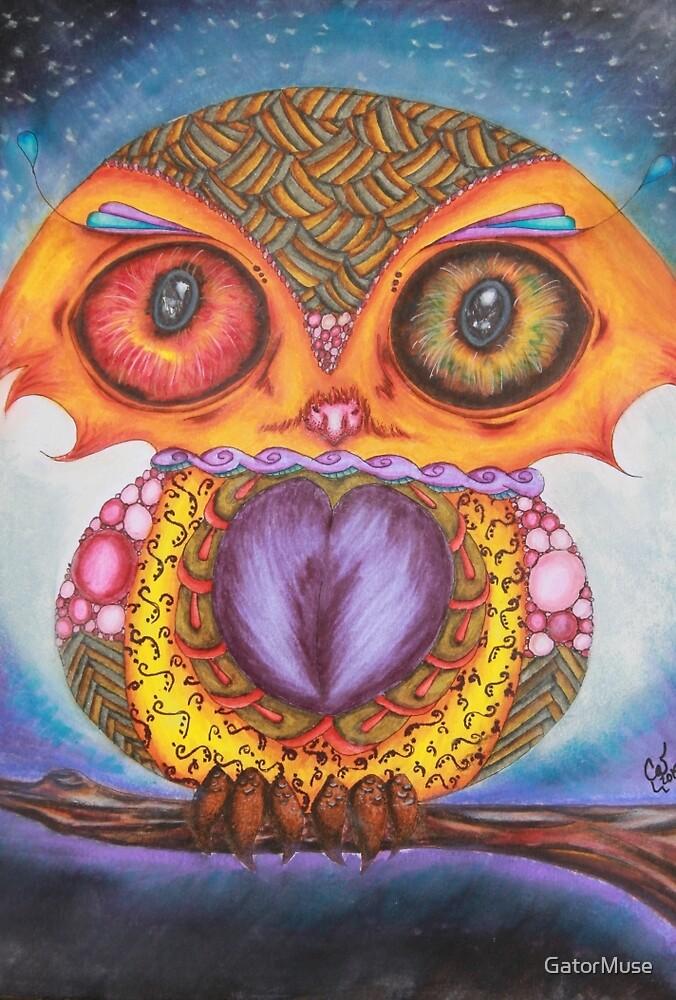 Zentangle Owl by GatorMuse