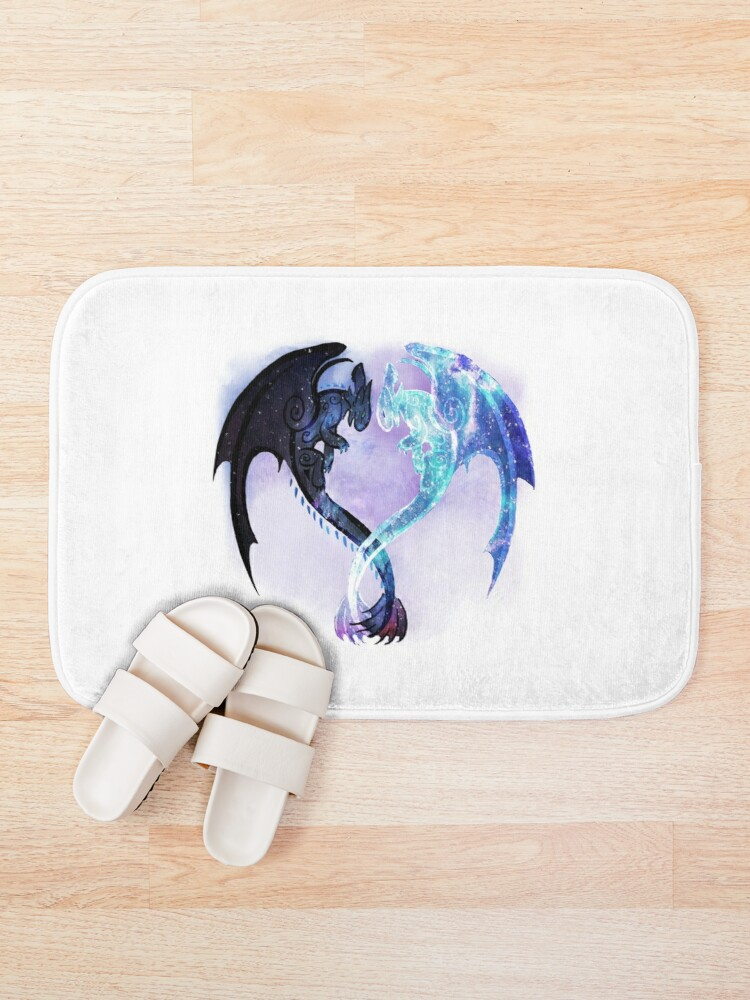 Alternate view of Dragon Heart Toothless and Light Fury Bath Mat