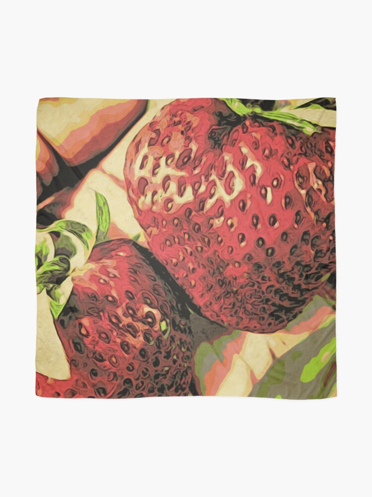 Alternate view of Strawberry Season - Fruit Lover Gift - Art Photography Scarf