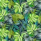 Botanical Leaves by LIMEZINNIASDES
