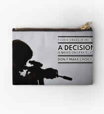 Warrior Decision Zipper Pouch