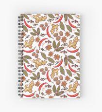 Spices pattern Spiral Notebook