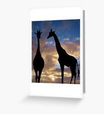 The winner by a neck Greeting Card