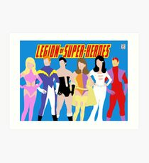 Legion of Super-Heroes Minimal 1 Art Print