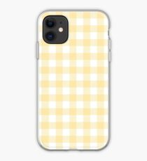Yellow Gingham iPhone Case