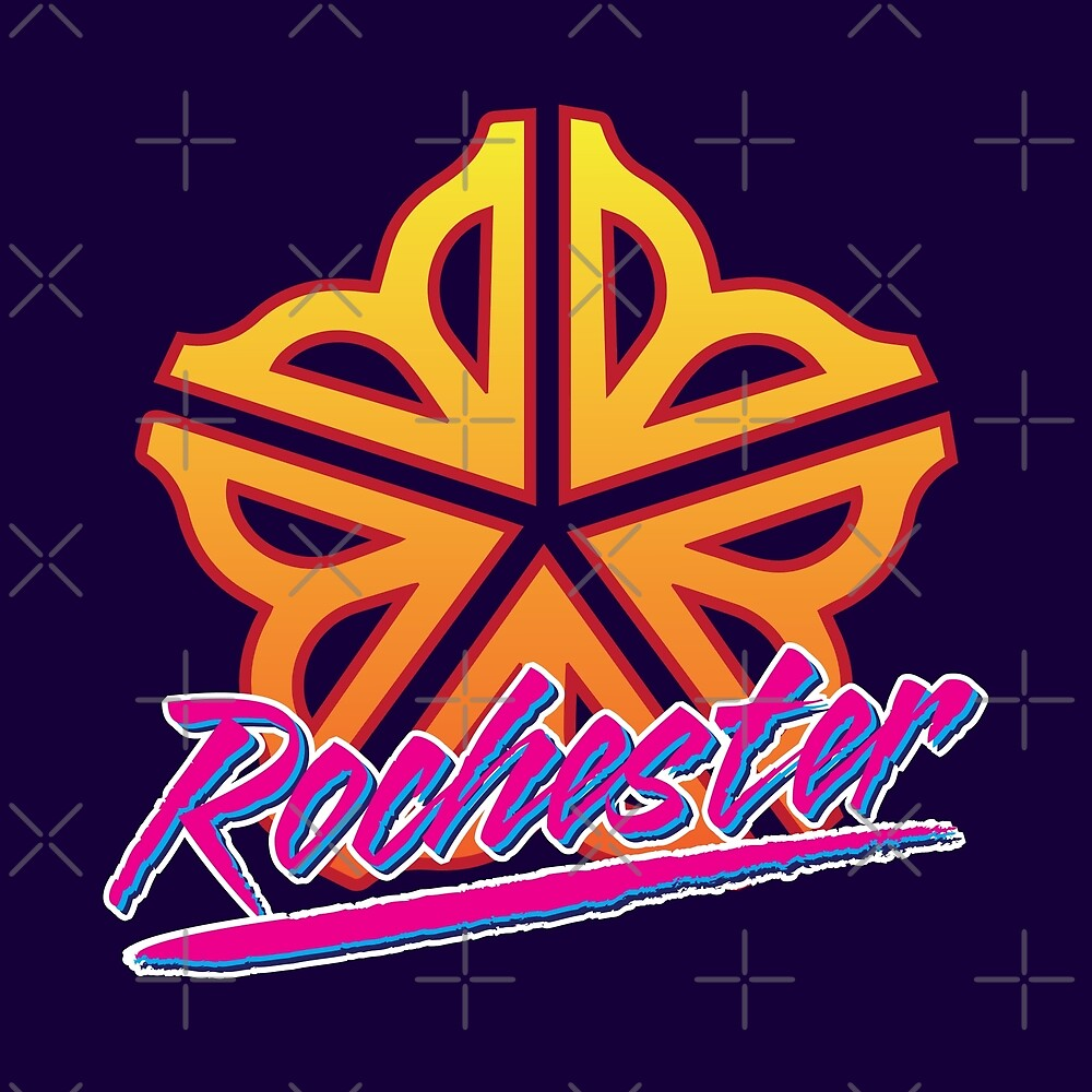 Officially Licensed Retro Rochester Logo by Patrick King