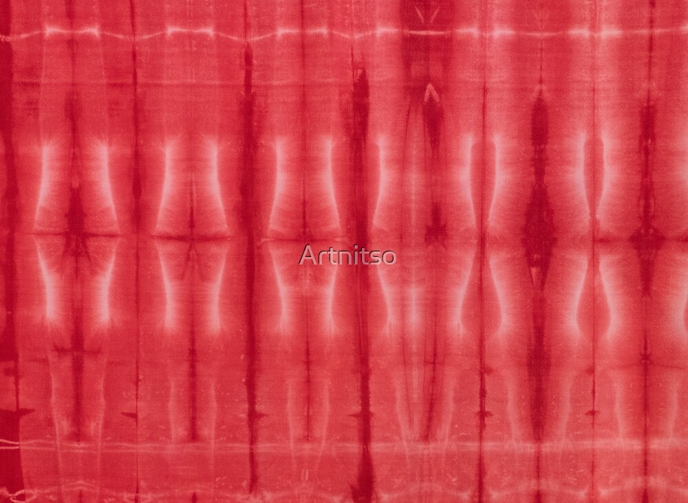 SKU607 Shibori Style - Red 16 by Artnitso