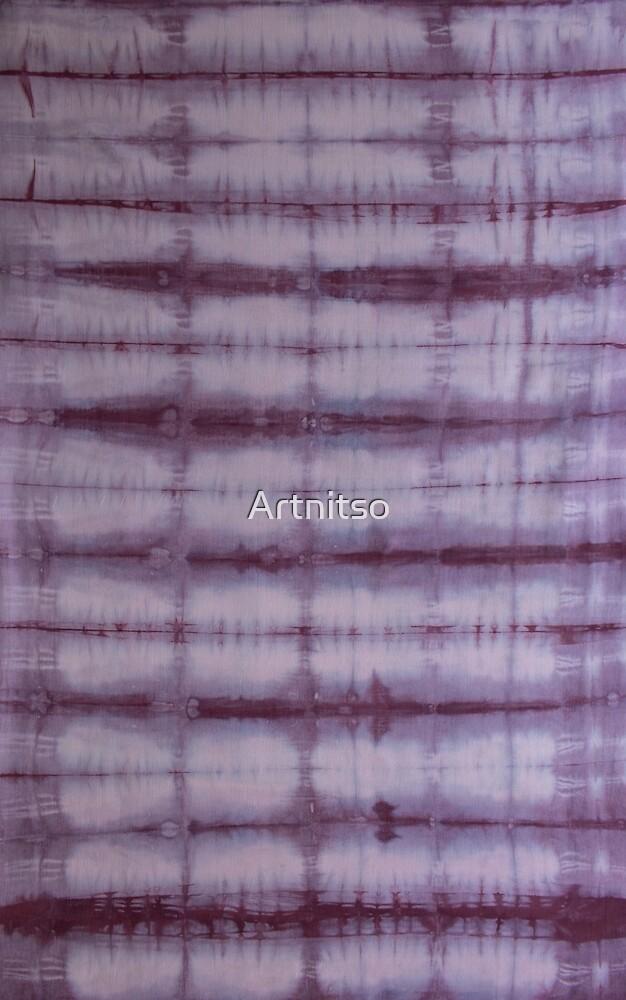 SKU 609 Shibori Style - Violet 1 by Artnitso