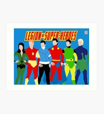 Legion of Super-Heroes Minimal 3 Art Print