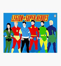 Legion of Super-Heroes Minimal 3 Photographic Print