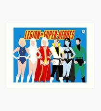 Legion of Super-Heroes Minimal 4 Art Print