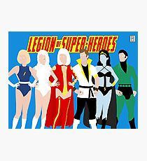 Legion of Super-Heroes Minimal 4 Photographic Print