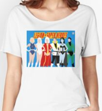 Legion of Super-Heroes Minimal 4 Women's Relaxed Fit T-Shirt