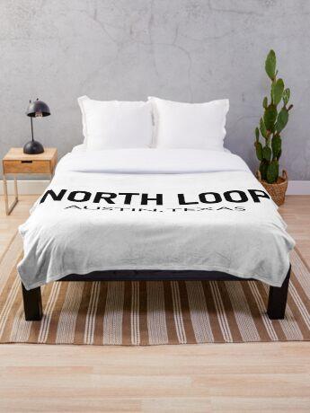 North Loop - Austin, Texas  Throw Blanket