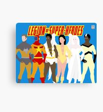 Legion of Super-Heroes Minimal 5 Canvas Print