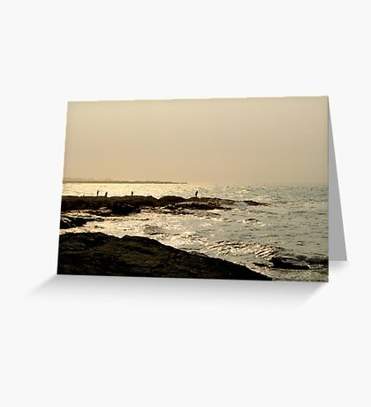 Fisherman in Newport  Greeting Card