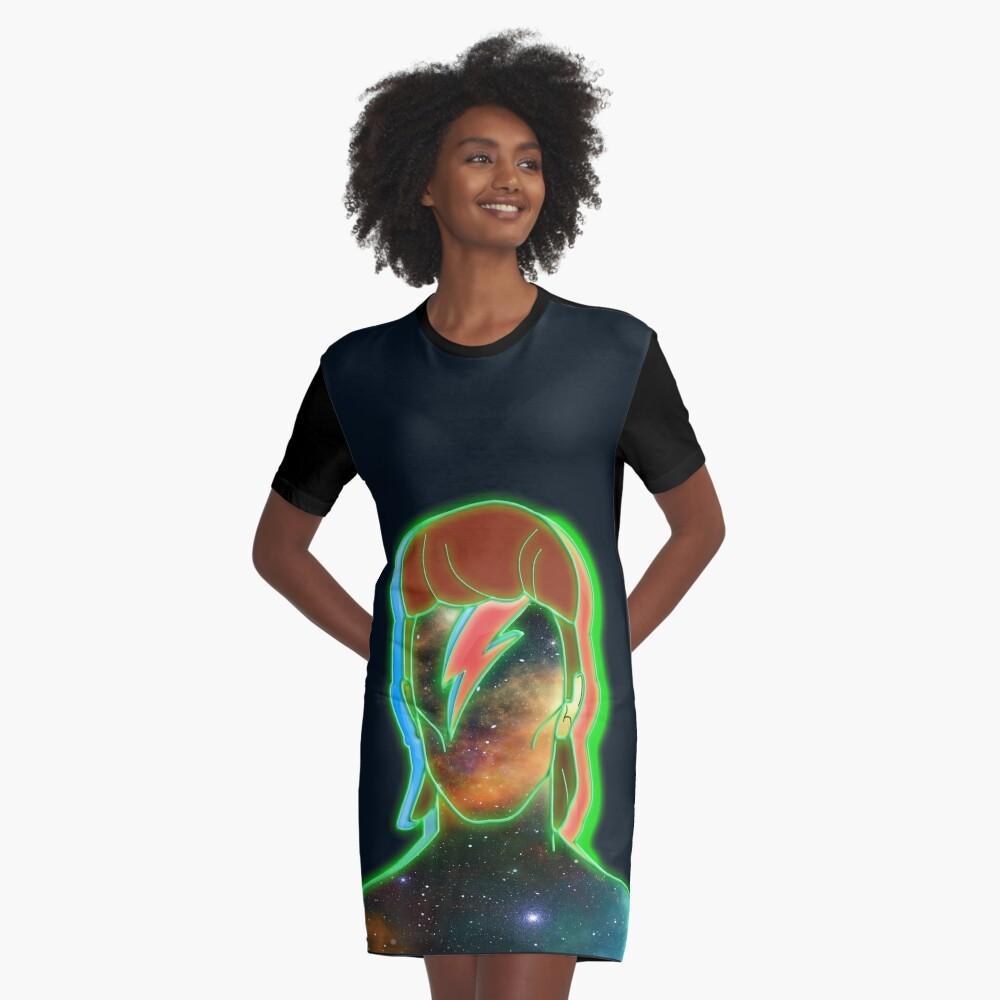 STARMAN/ Neon nostalgia tribute Graphic T-Shirt Dress