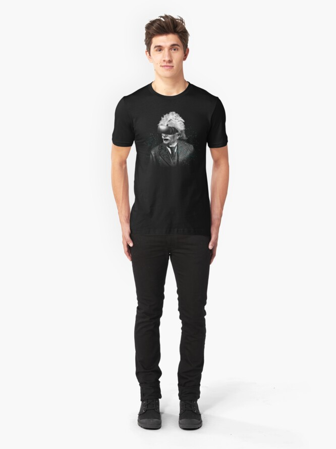 Alternate view of Einstein Reality  Slim Fit T-Shirt