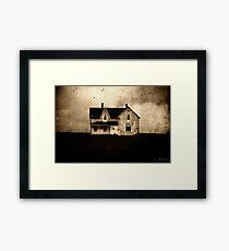 SINISTER . HOUSE Framed Print