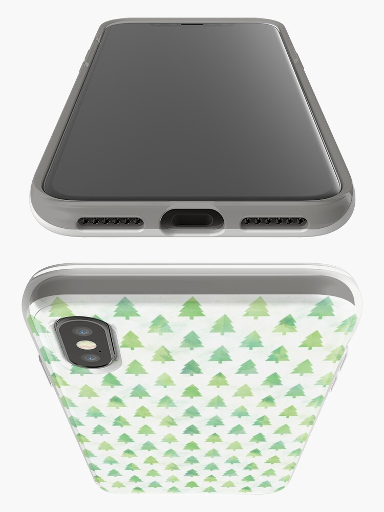 Alternate view of Simple Pine Tree Forest Pattern iPhone Case & Cover
