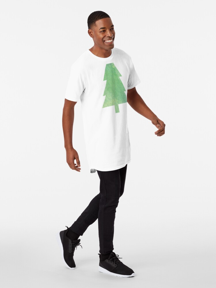Alternate view of Simple Pine Tree Forest Pattern Long T-Shirt