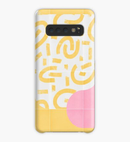 Sunny Doodle Tiles 03 #redbubble #midmod Case/Skin for Samsung Galaxy