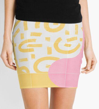 Sunny Doodle Tiles 03 #redbubble #midmod Mini Skirt