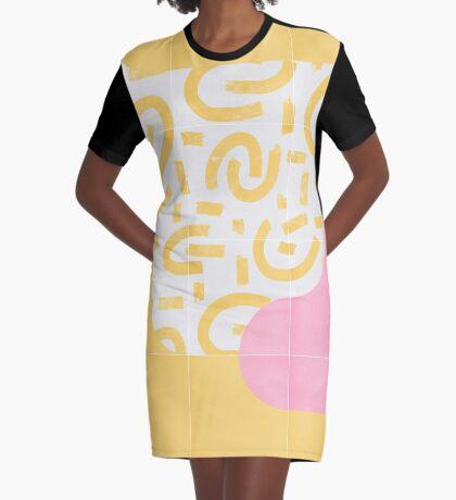 Sunny Doodle Tiles 03 #redbubble #midmod Graphic T-Shirt Dress