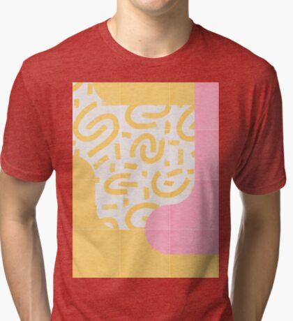 Sunny Doodle Tiles 03 #redbubble #midmod Tri-blend T-Shirt