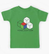 Pixel 3D Voxelization Nerd Computer Graphic Render Kids Clothes