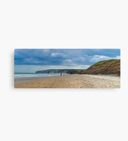 Fat Bloke on Beach, Hunmanby Gap, North Yorkshire Metal Print