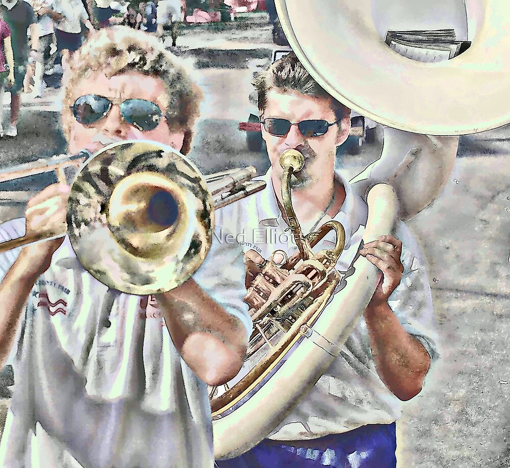 Musicians Closeup by Ned Elliott