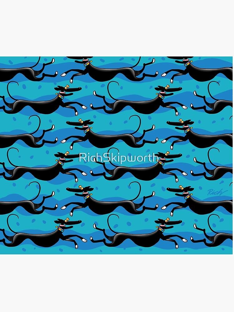 Blue Zoomies pattern by RichSkipworth