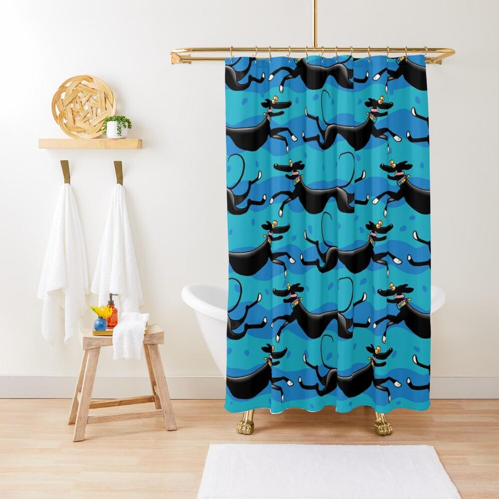 Blue Zoomies pattern Shower Curtain