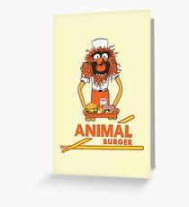 Animal Burger Greeting Card