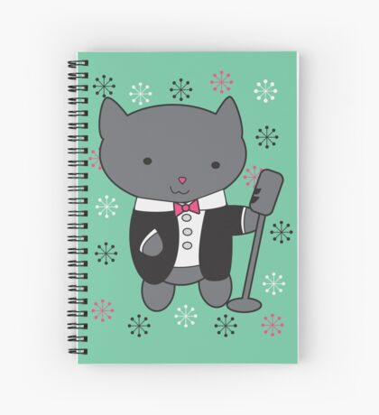 Lounge Singer Cat Spiral Notebook