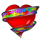 Puzzle ribbon heart by bmgdesigns